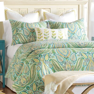 Barrymore Cotton Reversible Duvet Cover Set Size: Queen
