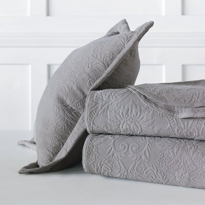 Sandrine Matelasse Cotton Coverlet Color: Dove, Size: California King