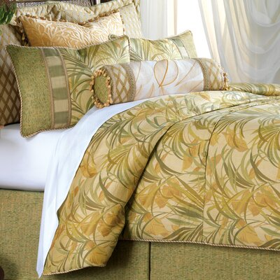 Antigua PolyesterComforter Size: California King, Finish Type: Button-Tufted