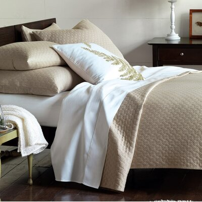 Briseyda Matelasse Coverlet Color: Sand, Size: Super King