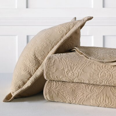 Sandrine Matelasse Cotton Coverlet Color: Maple, Size: Super King