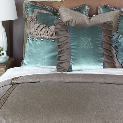 Monet Dunaway Umber Duvet Cover Size: Super Queen