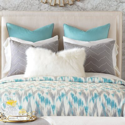 Eloise Ice Duvet Cover Size: Super Queen