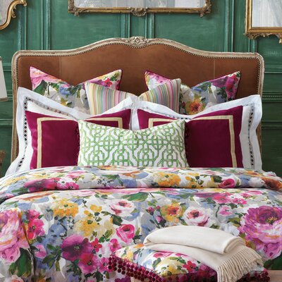 Tresco Bloom Comforter Size: Super Queen, Finish Type: Hand-Tacked
