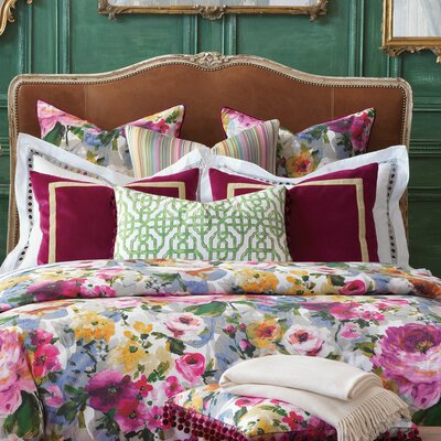 Tresco Bloom Duvet Cover Size: Queen