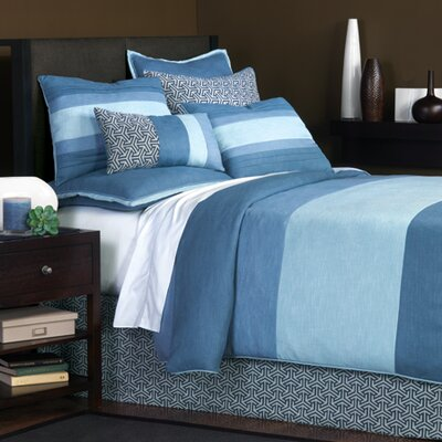 Mondrian Leaf Duvet Cover Size: Super Queen, Color: Blue
