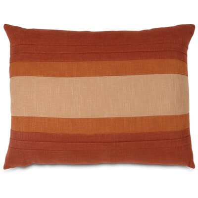 Mondrian Haberdash Linen Lumbar Pillow Size: King, Color: Canyon