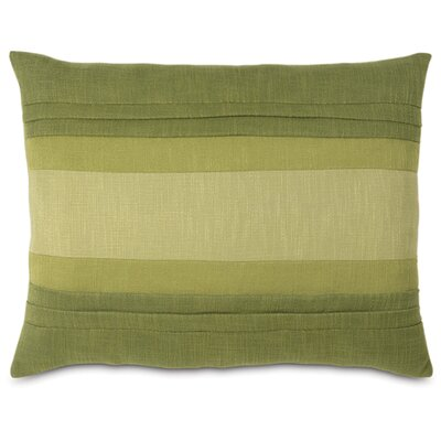 Mondrian Haberdash Linen Lumbar Pillow Size: King, Color: Leaf