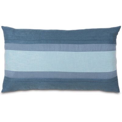 Mondrian Haberdash Linen Lumbar Pillow Size: King, Color: Water