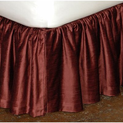 Lucerne Ruffled Bed Skirt Size: Full, Color: Spice