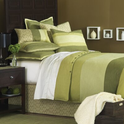 Mondrian Haberdash Hand-Tacked Comforter Size: Super Queen, Color: Green