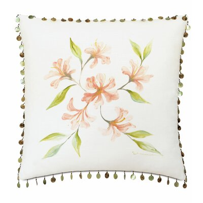 Lavinia Hand-Painted Cotton Throw Pillow