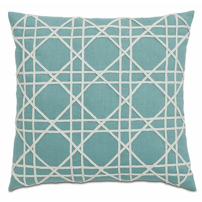 Lavinia Linen Throw Pillow Color: Aqua