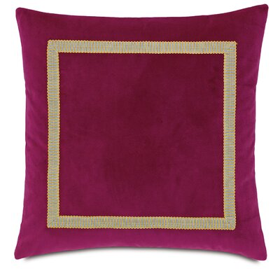 Tresco Plush Raspberry Fabric Indoor Throw Pillow