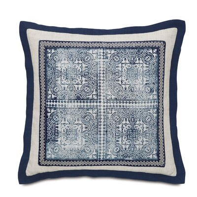 Martinique Block-Printed Fabric Indoor Throw Pillow