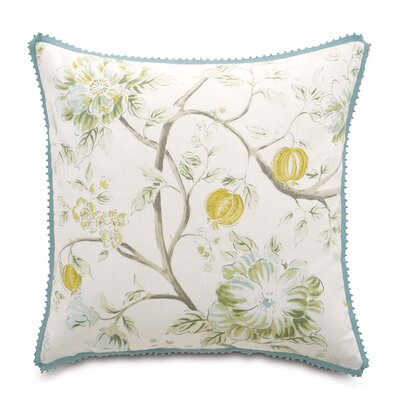 Magnolia Fabric Throw Pillow
