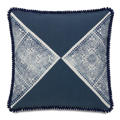 Martinique Block-Printed Throw Pillow