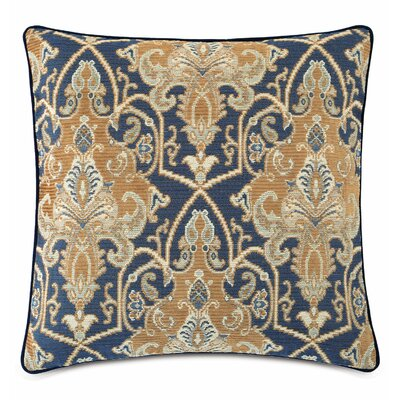 Arthur Ochre Cotton Throw Pillow