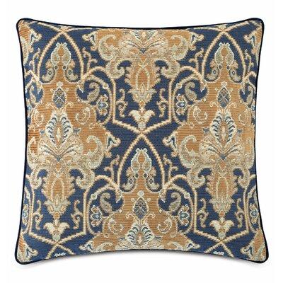 Arthur Ochre Cotton Throw Pillow