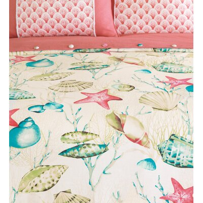 Sumba Seaside Comforter Size: Super Queen, Finish Type: Hand-Tacked