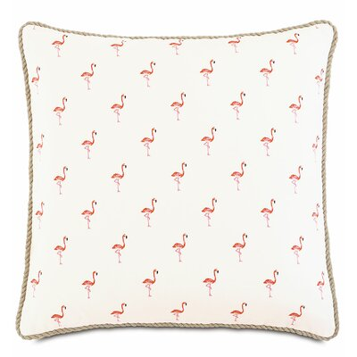 Sumba Fiesta Flock Cotton Throw Pillow