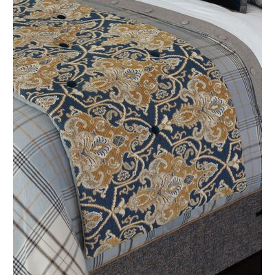 Arthur Ochre Bed Scarf Size: Queen