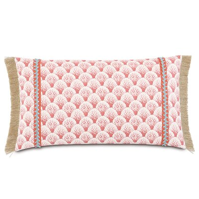 Sumba Koopa Coral Lumbar Cotton Pillow
