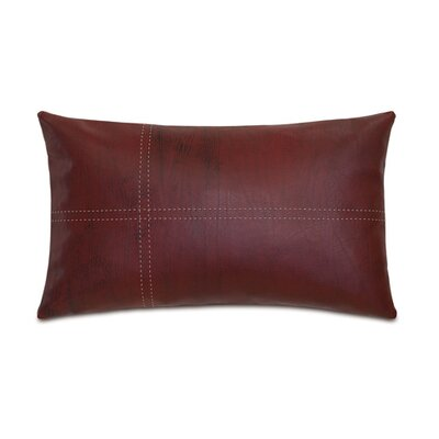 Chalet Dorian with Tailors Tack Lumbar Pillow Color: Brick
