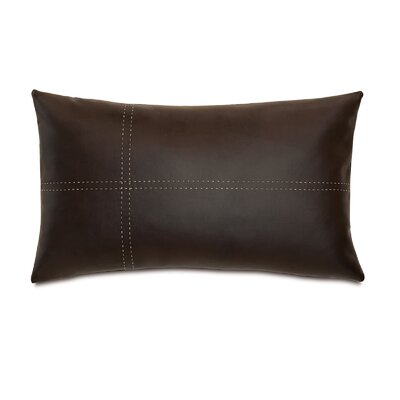 Chalet Dorian Pillow with Tailors Tack Color: Walnut
