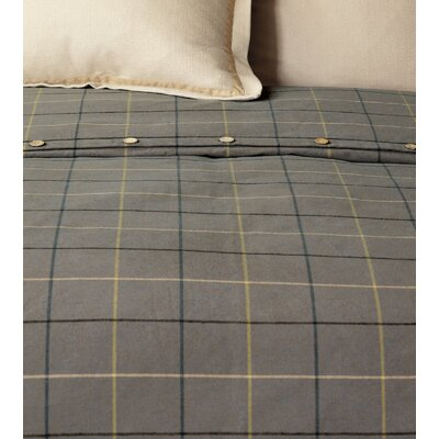 Chalet Donoghue Button-Tufted Comforter Size: Queen, Color: Slate