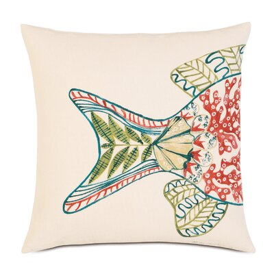 Suwanee Hand-painted Fish Tail Throw Pillow
