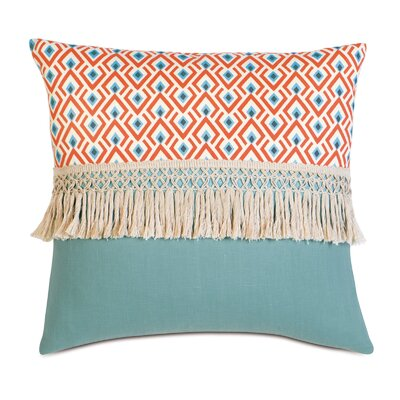 Suwanee Lobel Reef/Breeze Cotton Throw Pillow