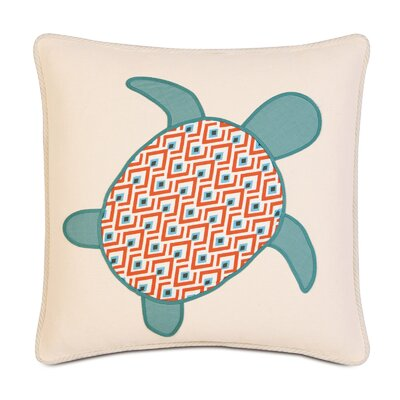 Suwanee Lobel Reef Turtle Applique Throw Pillow