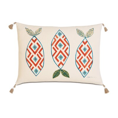 Suwanee Hand-Painted Three Fish Lumbar Pillow