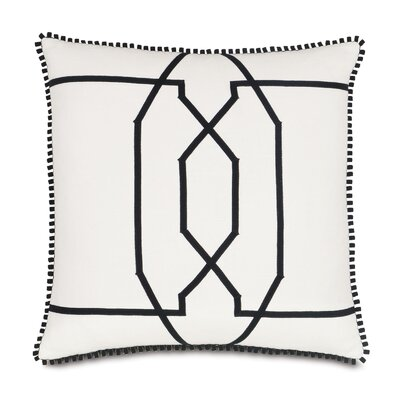 Ravensmoor Baldwin Cotton Throw Pillow Color: White