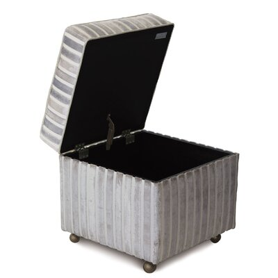 Vionnet Gaia Sterling Storage Boxed Ottoman