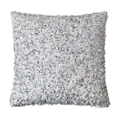 Vionnet Crystal Platinum Throw Pillow