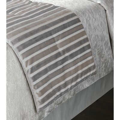 Vionnet Gaia Sterling Bed Runner Size: Queen