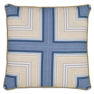 Maritime Marine Mitered Outdoor Throw Pillow
