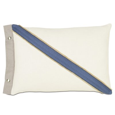 Maritime Filly Flange and Grommet Outdoor Lumbar Pillow