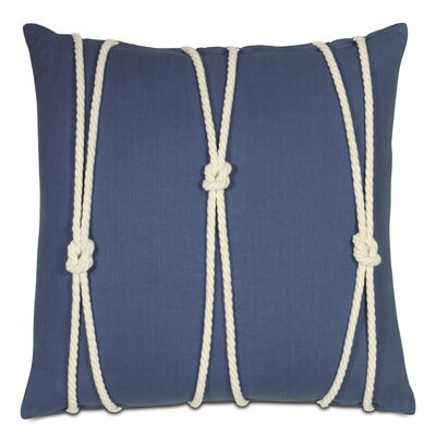 Maritime Breeze Sapphire Knot Throw Pillow