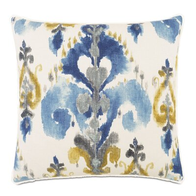 Aoki Azure Linen Throw Pillow