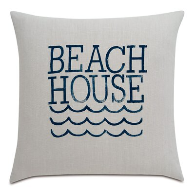 Sail Away Beach Living Linen Throw Pillow