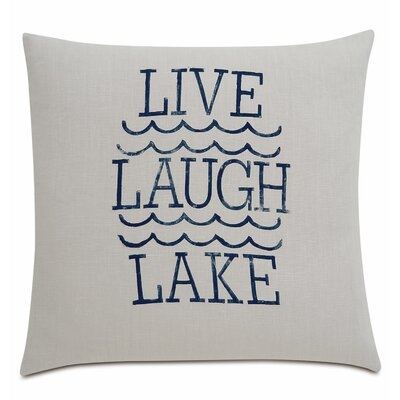 Sail Away Live Laugh Lake Linen Throw Pillow