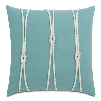 Yacht Knots Linen Throw Pillow Color: Aqua