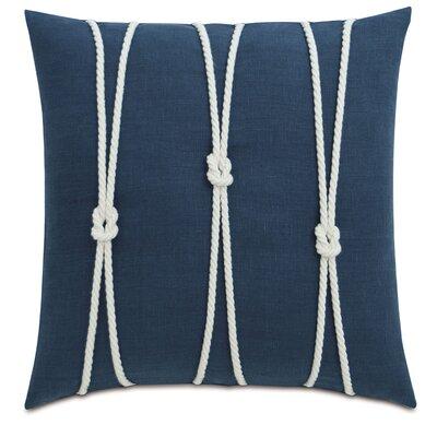 Yacht Knots Linen Throw Pillow Color: Blue