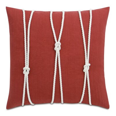 Yacht Knots Linen Throw Pillow Color: Red