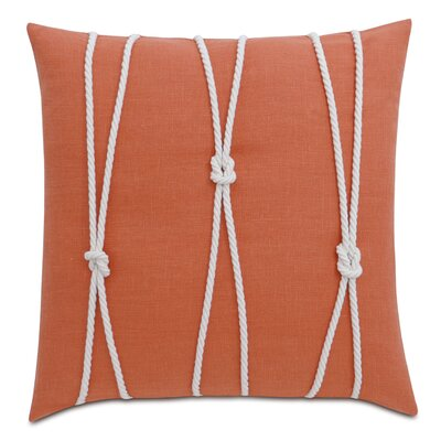 Yacht Knots Linen Throw Pillow Color: Orange