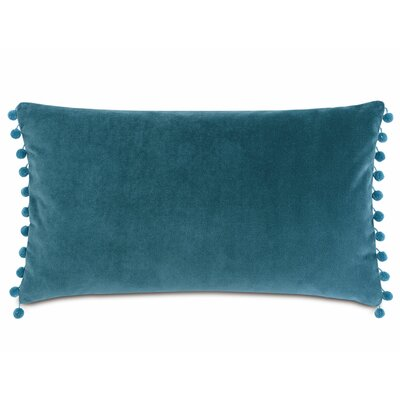 Plush Frou Frou Cotton Lumbar Pillow Color: Teal