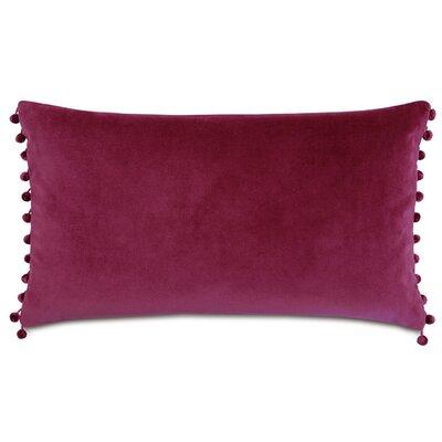 Plush Frou Frou Cotton Lumbar Pillow Color: Magenta